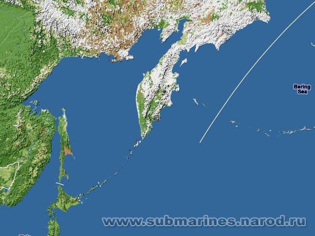 вилючинск база подводных лодок на карте